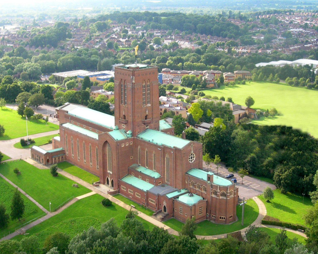 Image: Aerial view of Guildford Cathedral