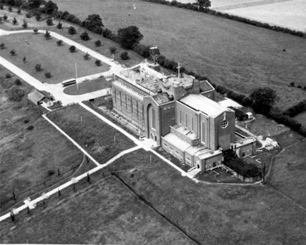 Image: Aerial view of Guildford Cathedral, c1959